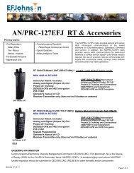 AN/PRC-127EFJ RT & Accessories - EFJohnson