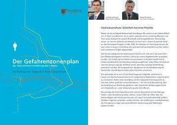 Der Gefahrenzonenplan - Ein Beitrag zum Integralen - Vorarlberg