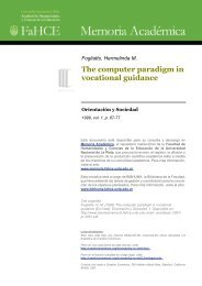 The computer paradigm in vocational guidance - Memoria Académica