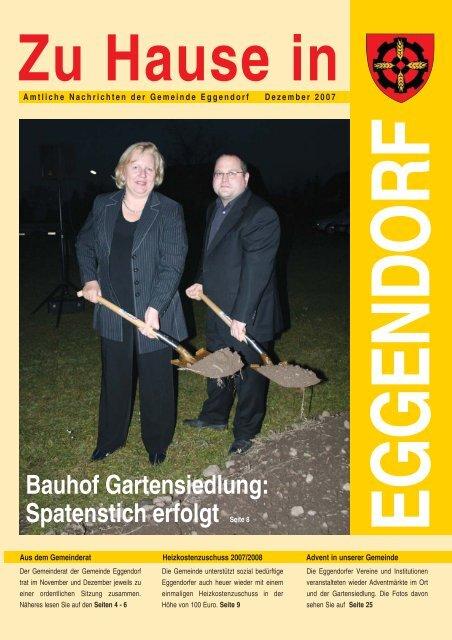 Bauhof Gartensiedlung: Spatenstich erfolgt Seite 8 - Gemeinde ...