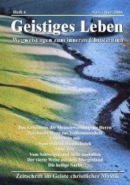 GL 6/2006 - der Lorber-Gesellschaft eV