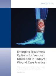 Emerging Treatment Options for Venous Ulceration in Today's ...