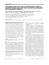 Outcomes after the use of gastrostomy tubes in patients whose head ...