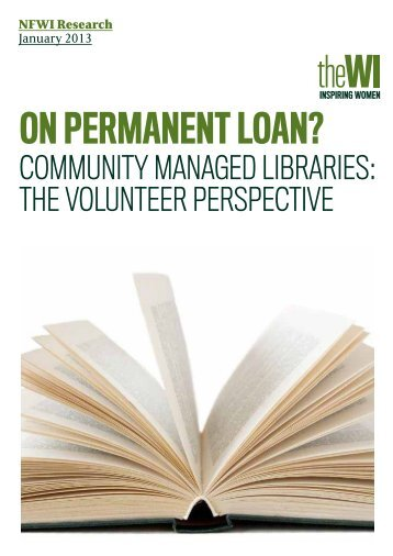 ON PERMANENT LOAN? - National Federation of Women's Institutes