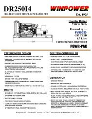 spec sheet - Winco Generators