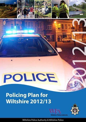 Policing Plan 2012-13 - Police and Crime Commissioner for ...