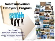 RIF Overview Briefing - Defense Innovation Marketplace