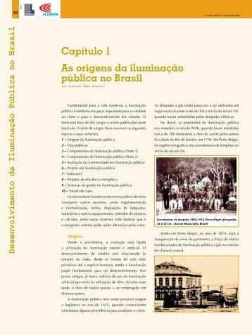 Capítulo 1 As origens da iluminação pública no Brasil