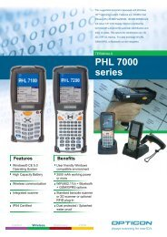 Specifications PHL 7000 series Ruggedized terminal