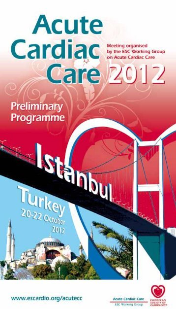 Acute Cardiac Care 2012 Preliminary Programme - PaginaMedicala.ro