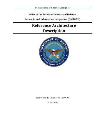 Reference Architecture Description - Chief Information Officer