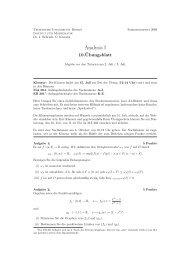 10. Übungsblatt - Institut für Mathematik