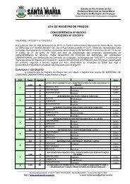 CONCORRÊNCIA Nº 06/2010 - Prefeitura Municipal de Santa Maria