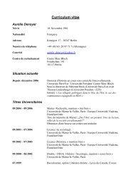 Curriculum vitae - Centre Marc Bloch
