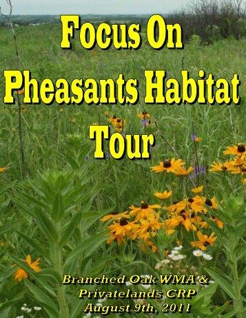 Focus on Pheaseants Habitat Tour - Nebraska Game and Parks ...