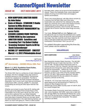 Issue 58 - Scanner Digest Newsletter