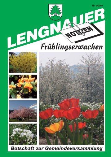 Frühlingserwachen - Einwohnergemeinde Lengnau BE
