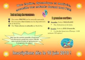 Tract CLSH Eté 2010 - A4 - Bar-le-Duc