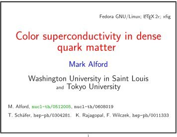 Color superconductivity in dense quark matter