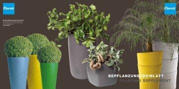 BEPFLANZUNGSBEIBLATT PLANTING SUPPLEMENT - Eternit