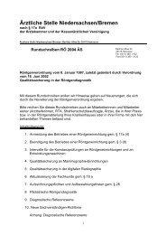 Ärztliche Stelle Niedersachsen/Bremen - Forum Röntgenverordnung