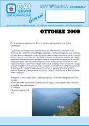 OTTOBRE 2009.pmd - CAI - sezione di Sesto San Giovanni