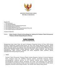 SURAT EDARAN - Departemen Pekerjaan Umum