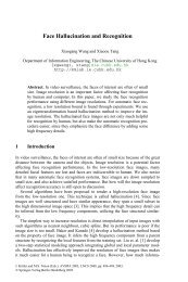 Face Hallucination and Recognition - The Chinese University of ...