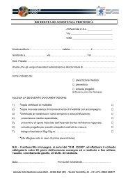 Copia di Richiesta di Assistenza Protesica - Azienda USL Rieti