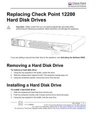 Replacing Check Point 12200 Hard Disk Drives