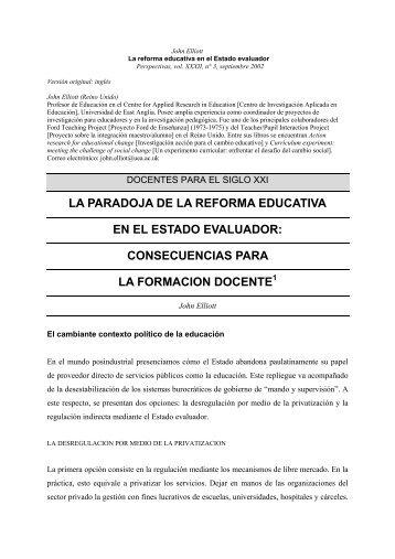 La reforma educativa en el Estado evaluador - UNESCO.org