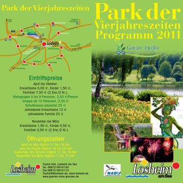 Vierjahreszeiten Programm 2011 - Gemeinde Losheim am See