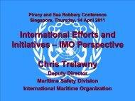 IMO Perspective Chris Trelawny - ReCAAP