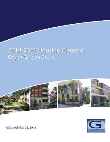 Adopted 2014-2021 Housing Element - Garden Grove