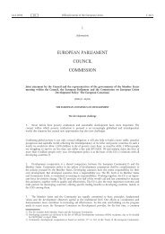 European Consensus on Development - EUR-Lex