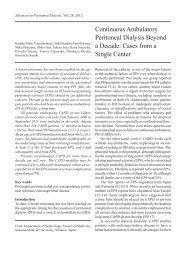 Continuous Ambulatory Peritoneal Dialysis Beyond a Decade ...