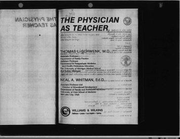 Physicians as Communicators