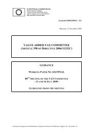 VALUE ADDED TAX COMMITTEE (ARTICLE 398 OF DIRECTIVE ...
