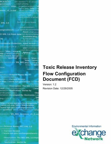 Toxic Release Inventory Flow Configuration Document (FCD)