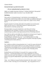 Charlotte Højholt: Styringsteknologier og professionel praksis - På ...