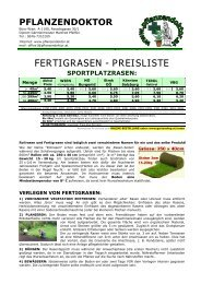 fertigrasen - preisliste sportplatzrasen - GARTENSHOP.at