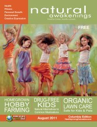 August 2011: Vibrant Kids & Families - Columbia Natural ...