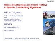 in Iterative Thresholding Algorithms - LATP