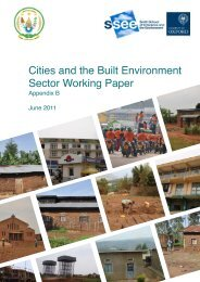 Cities and the Built Environment Sector Working Paper. - REMA