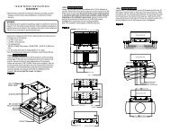 Christie LX32 and LX34 Ceiling Mount Instructions - Christie Digital ...
