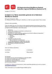 Sozialdemokratische Partei Regionalverband Biel/Bienne - SP ...