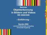 Objekterkennung in Bildern und Videos - Multimedia Computing Lab