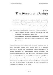 The Research Design - Compass Learning Technologies