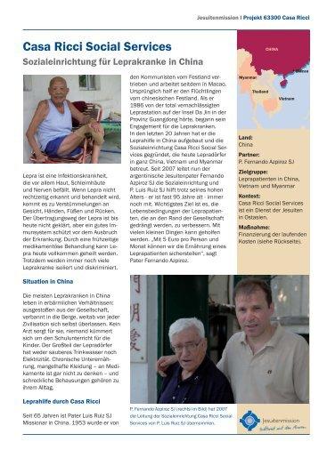 Casa Ricci Social Services - Jesuitenmission