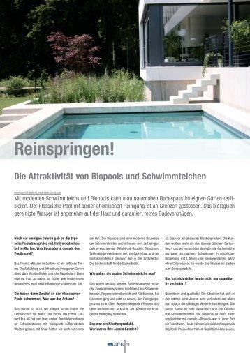 Die Attraktivität von Biopools und Schwimmteichen ... - Lehnert AG